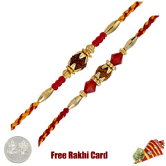 Rudraksh Rakhi Set of 2 /></a></div><div class=