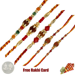 Rudraksh Rakhi Set of 5 /></a></div><div class=