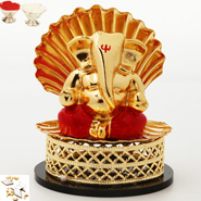 Shell Gold Ganesha