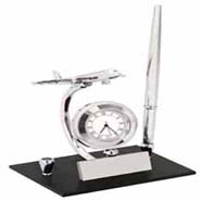 Plane Pen Holder Cum Clock - 311