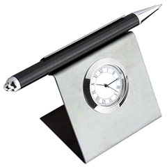 Square Pen Holder Cum Clock - 354