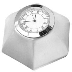 Silver Cube Clock - 373