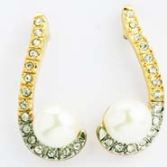 Long Pearl Diamond Earings- Earf91509long