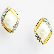 Square Pearl Earings- earrf91059