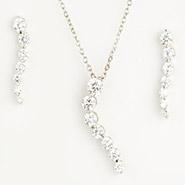 Long Diamond Pendant Set