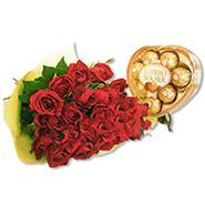 Roses N Heart Rocher