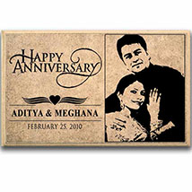 Personalized Wooden Plaque For Anniversary