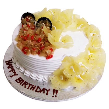 Buy 1kg Pineapple Cake Eggless Primogiftsindia