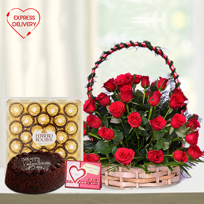 Amazing Red Basket Hamper